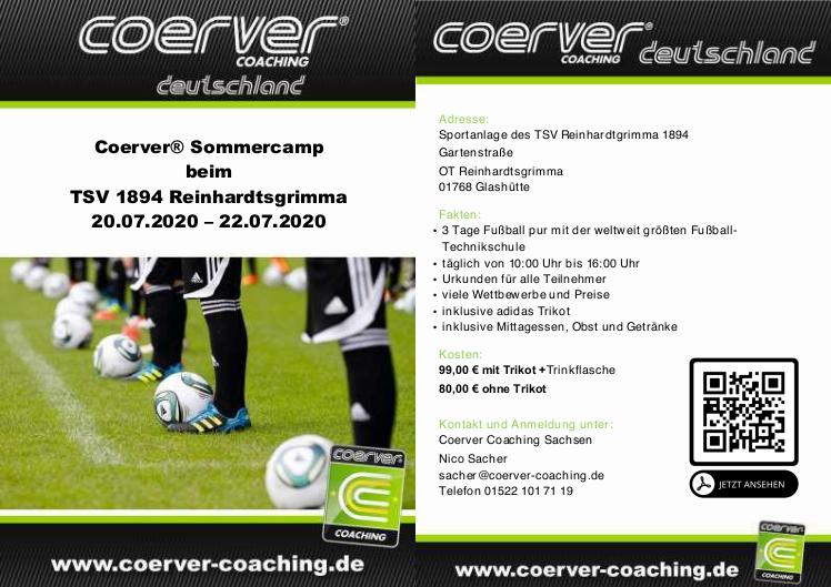 REWE-Fußball-Camp powered by COERVER® beim TSV 1894 Reinhardtsgrimma